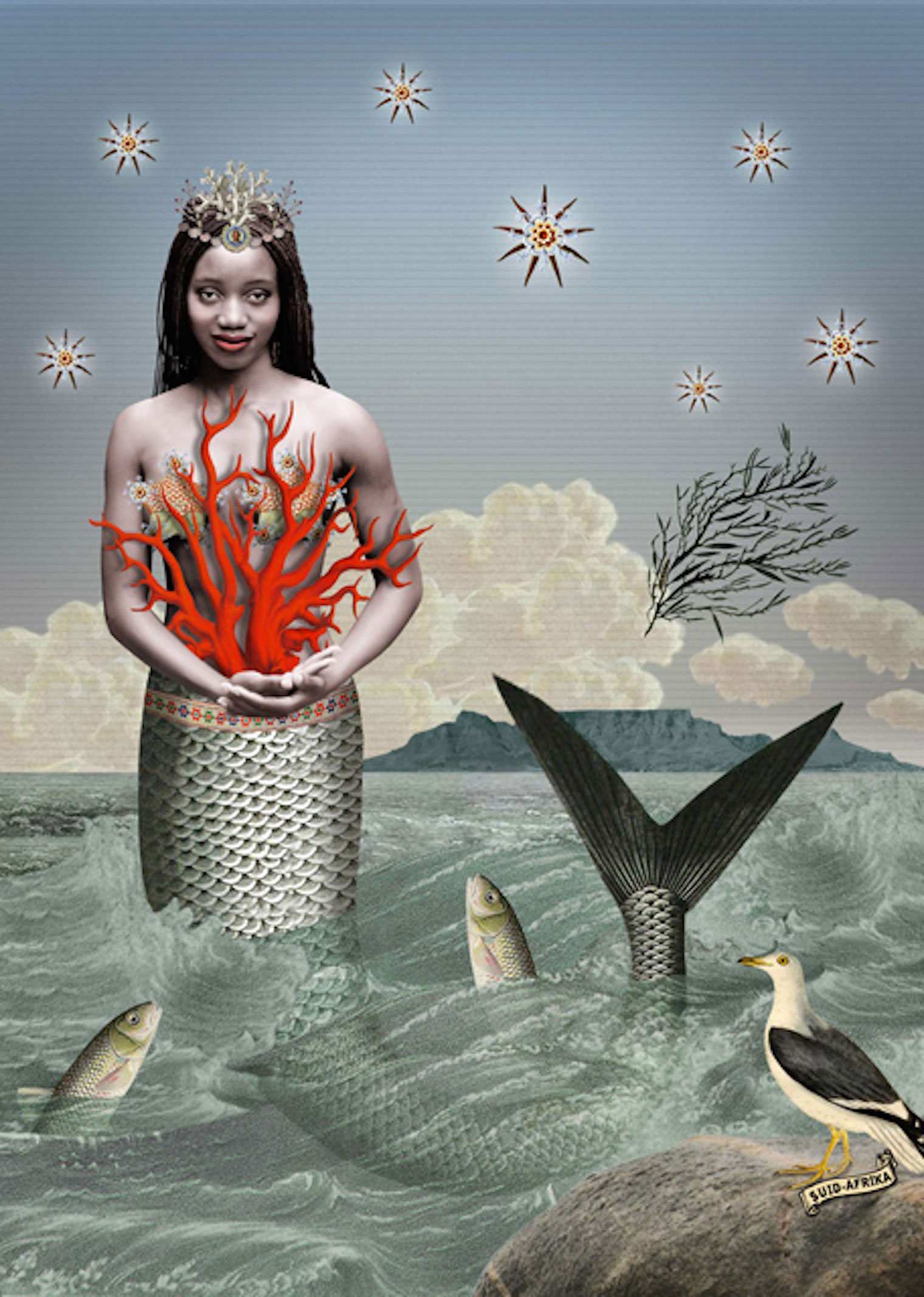 Sea Maiden with Coral