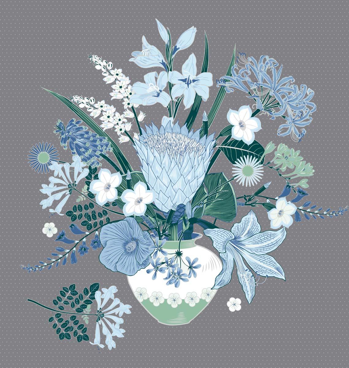 Floral Bouquet Blue