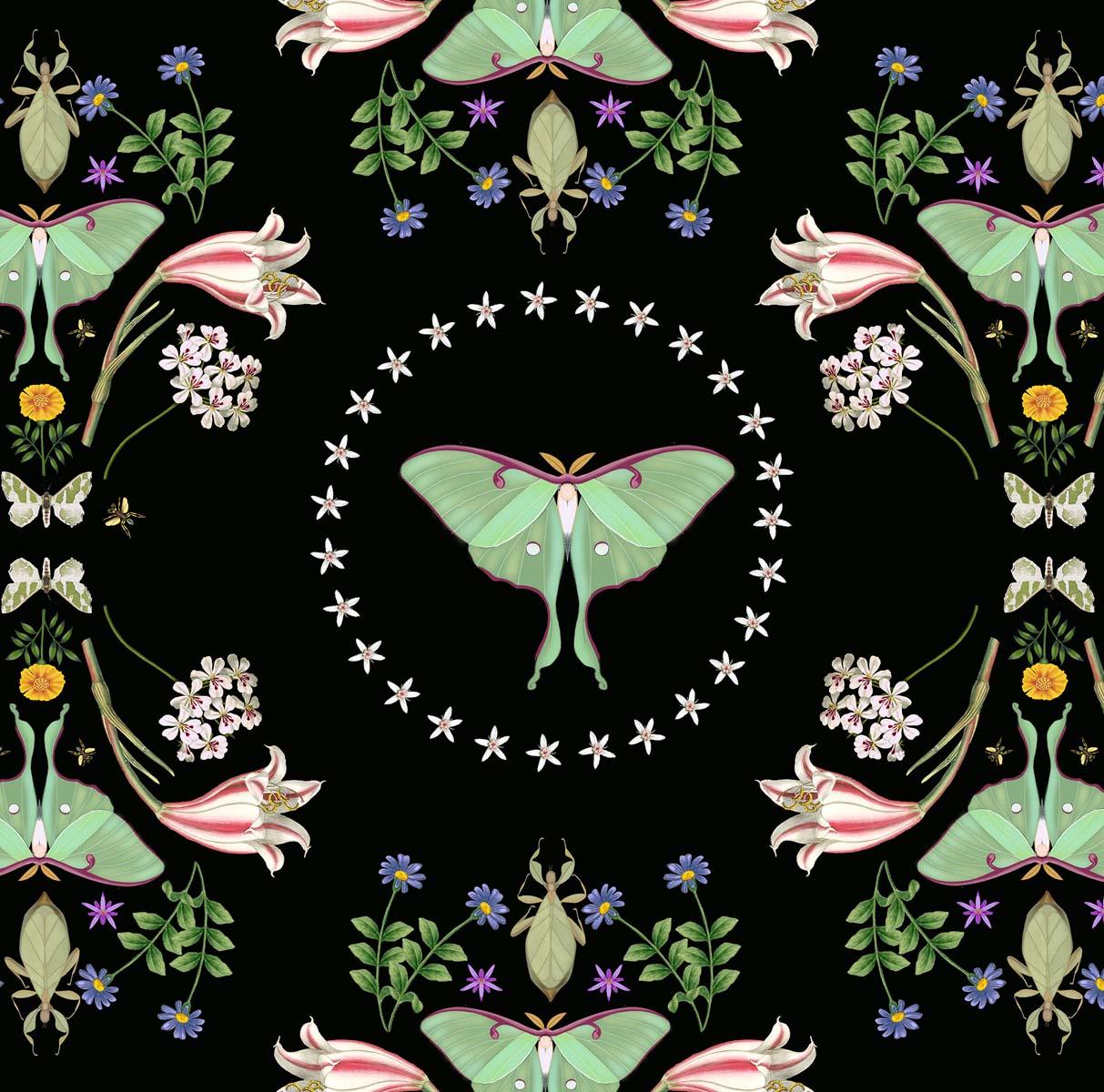 Luna Moth Design Applied