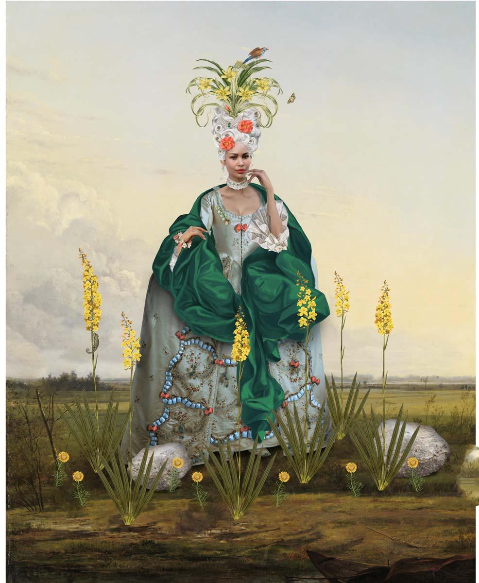 Rococo Woman Among Wachendorfia