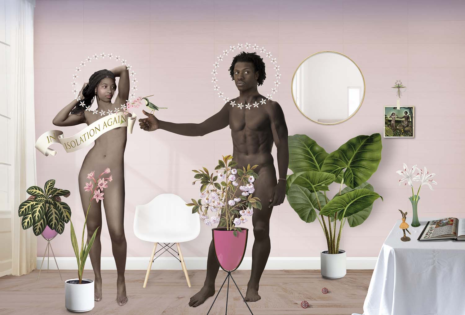 Adam and Eve in the house of Eden